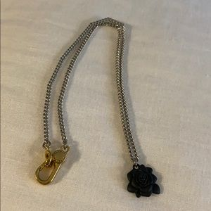 Marc by Marc Jacobs black rose necklace